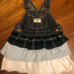 Oshkosh blue jean dress size 24 months EUC